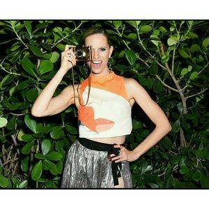 H&M Fashion Loves Art x Alex Katz Cropped Top Sz 6